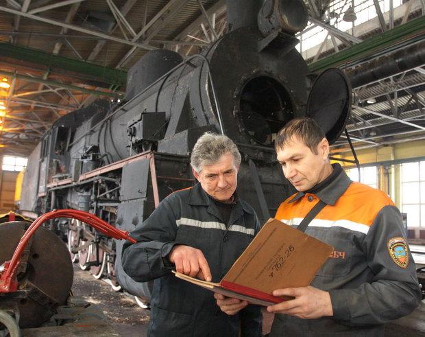 Паровоз Эр в Кричевском депо