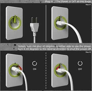 Дизайнерская розетка-выключатель