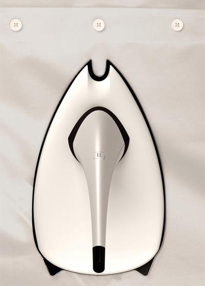Концепт утюга с функцией «обтекания» пуговиц