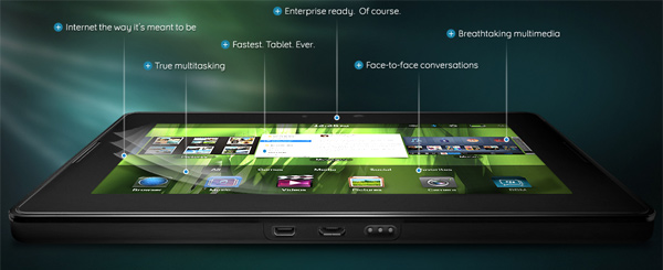 Планшетный нетбук BlackBerry PlayBook
