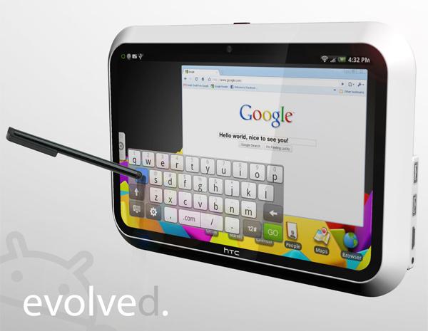HTC Evolve - концепт перспективного планшетника от HTC, появившийся в январе 2010 года